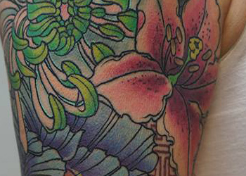 japanese floral tattoo