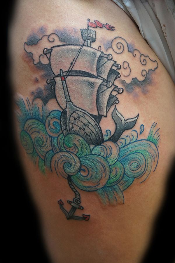 little ship tattoo