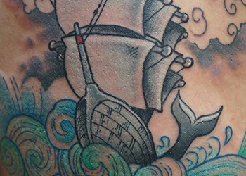 little ship tattoo